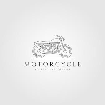 Logotipo da arte da linha de motocicleta
