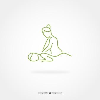 Logotipo da arte linha de massagem