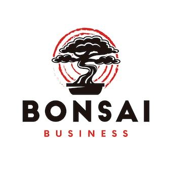 Logotipo da árvore de bonsai