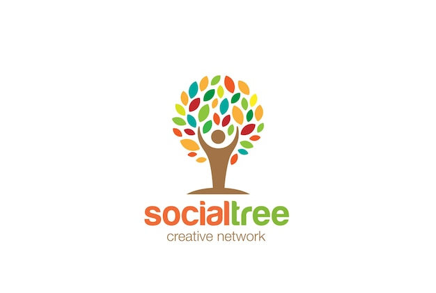 Logotipo da árvore do homem.
