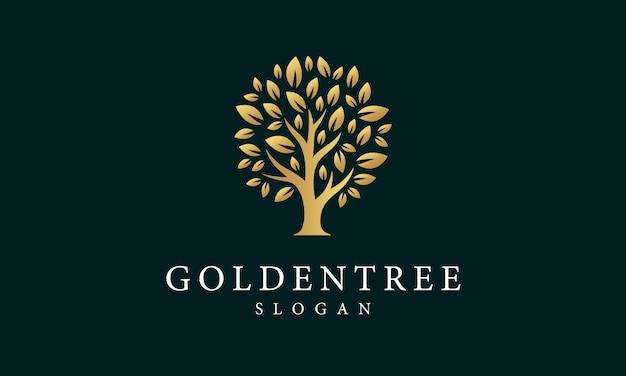 Logotipo da árvore dourada