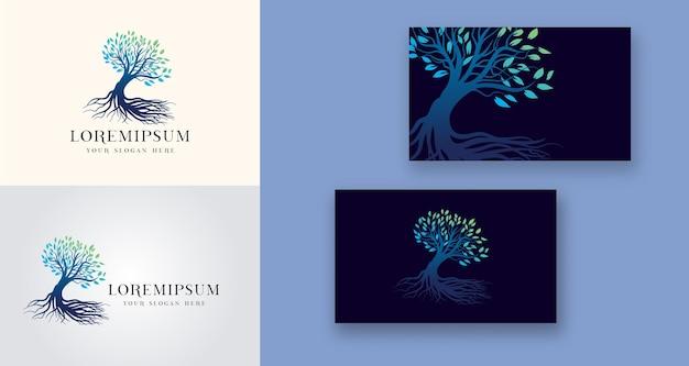 Logotipo da árvore holística de saúde médica