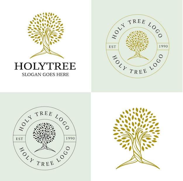 Logotipo da árvore holly