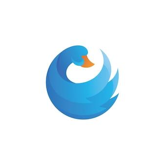 Logotipo da asa de ganso de cisne