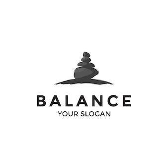 Logotipo da balança de rocha