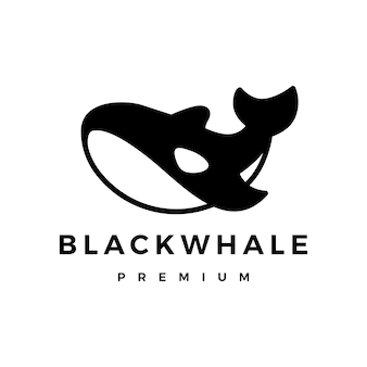 Logotipo da baleia assassina negra