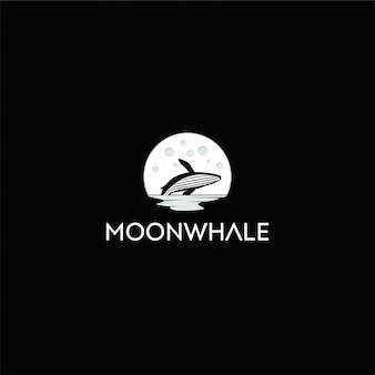 Logotipo da baleia da lua