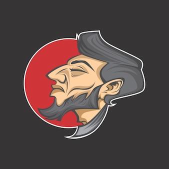 Logotipo da barba