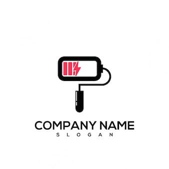 Logotipo da bateria de tinta