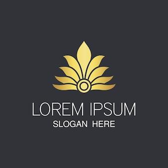 Logotipo da bela flor abstrata.