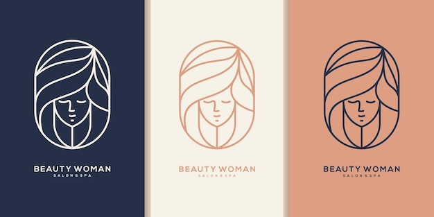 Logotipo da beleza do cabelo para salão de beleza, reforma, estilista de cabelo, corte de cabelo.