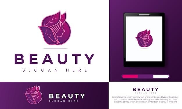 Logotipo da beleza natural