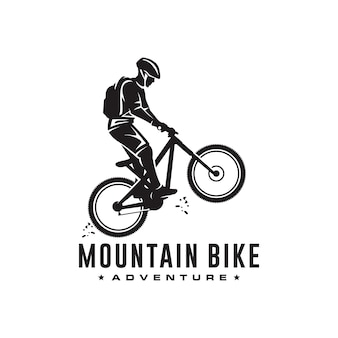 Logotipo da bicicleta de montanha