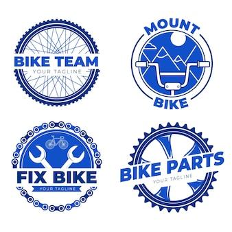 Logotipo da bicicleta definido em design plano
