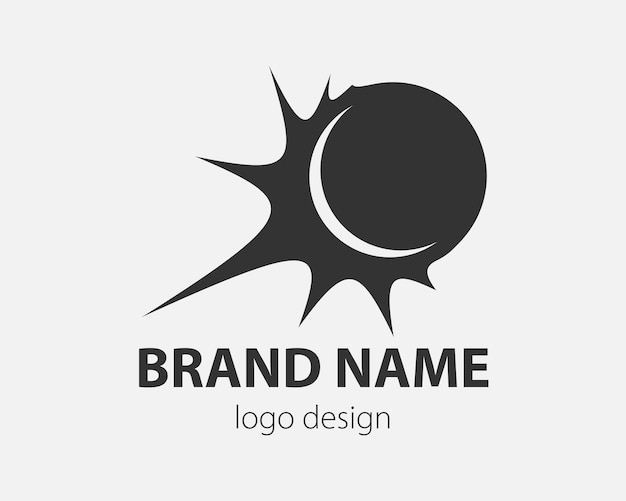 Logotipo da bola abstrata. futebol, voleibol. design de logotipo de vetor de esporte.
