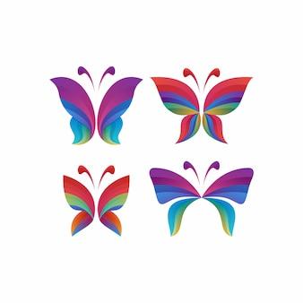 Logotipo da borboleta colorido