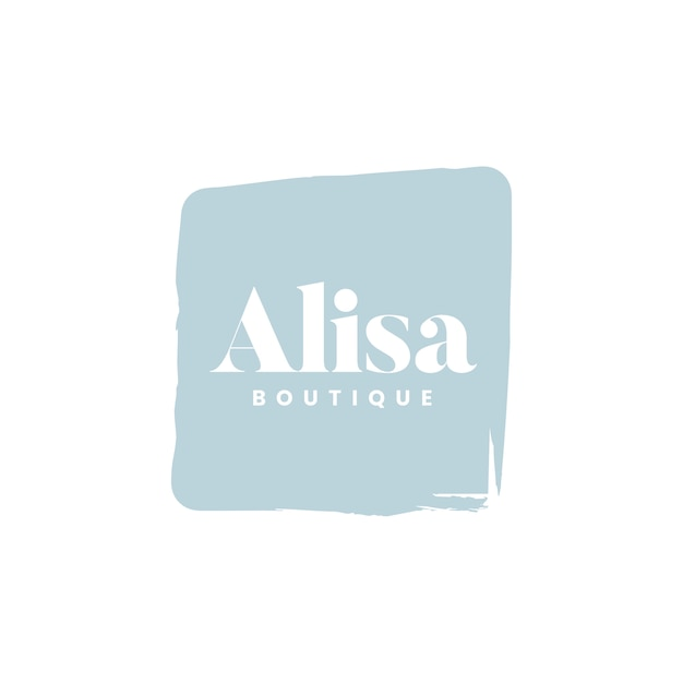 Logotipo da boutique alisa marca vector
