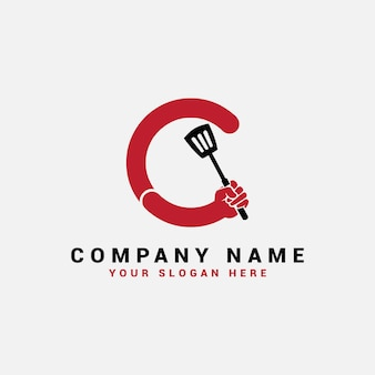 Logotipo da c letter, logotipo da c food letter