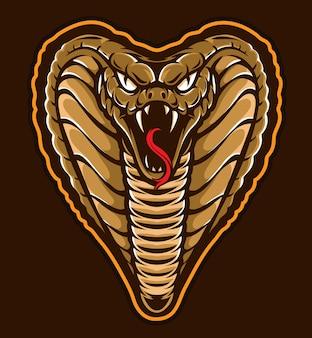 Logotipo da cabeça da cobra