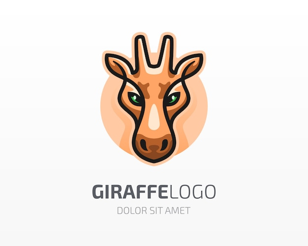 Logotipo da cabeça da girafa
