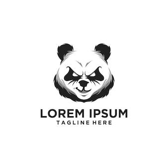 Logotipo da cabeça da panda