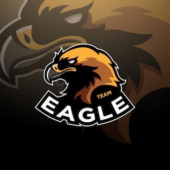 Logotipo da cabeça de águia esport