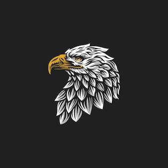 Logotipo da cabeça de águia
