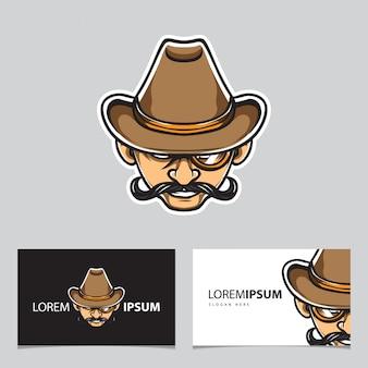 Logotipo da cabeça de detetive