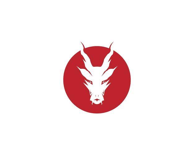 Logotipo da cabeça de dragão