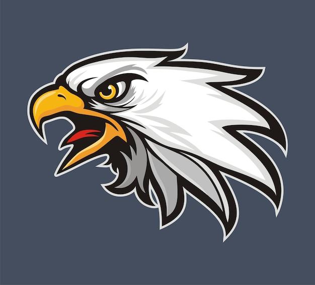 Logotipo da cabeça de eagle para t-shirt