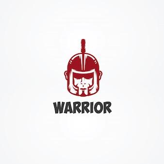 Logotipo da cabeça de guerreiro