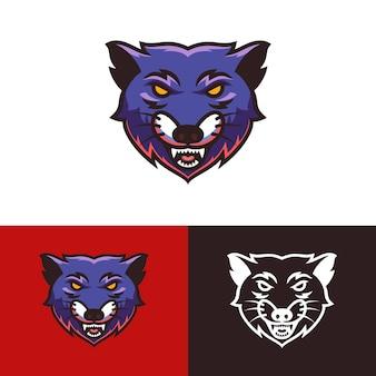 Logotipo da cabeça de lobo