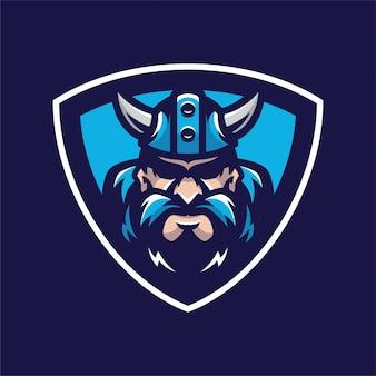Logotipo da cabeça de mascot viking