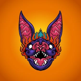 Logotipo da cabeça de morcego