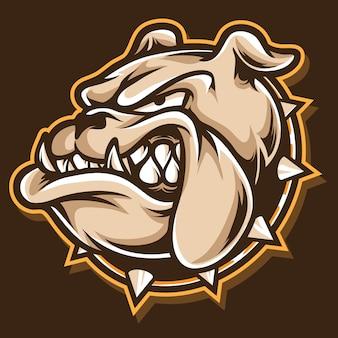 Logotipo da cabeça de pitbull