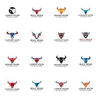 Logotipo da cabeça de touro