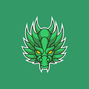 Logotipo da cabeça do dragão