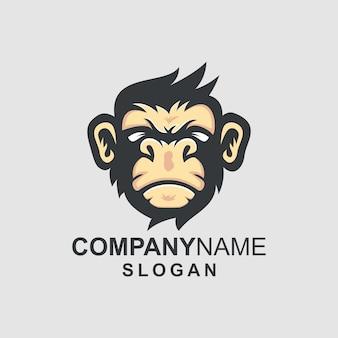 Logotipo da cabeça do macaco
