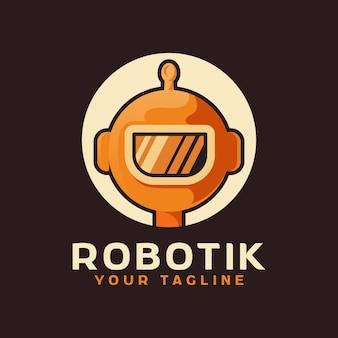 Logotipo da cabeça do robô