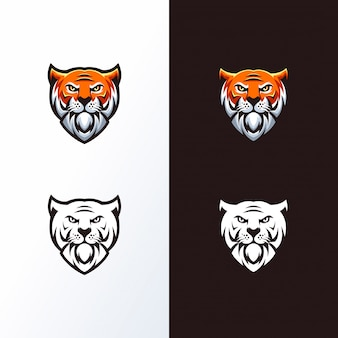 Logotipo da cabeça do tigre pronto para uso