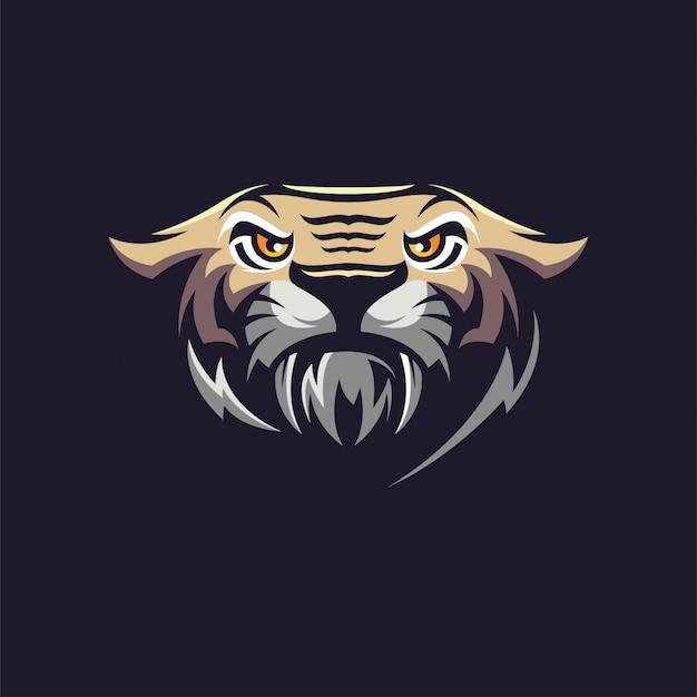 Logotipo da cabeça do tigre