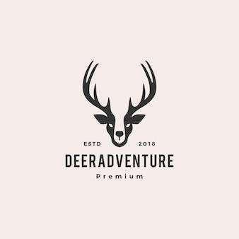 Logotipo da cabeça dos cervos