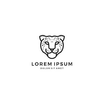 Logotipo da cabeça leopardo