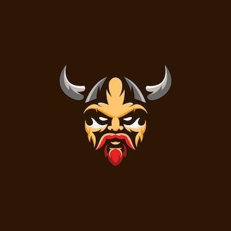 Logotipo da cabeça viking