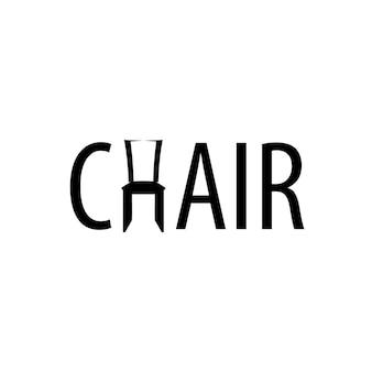 Logotipo da cadeira para empresa de móveis