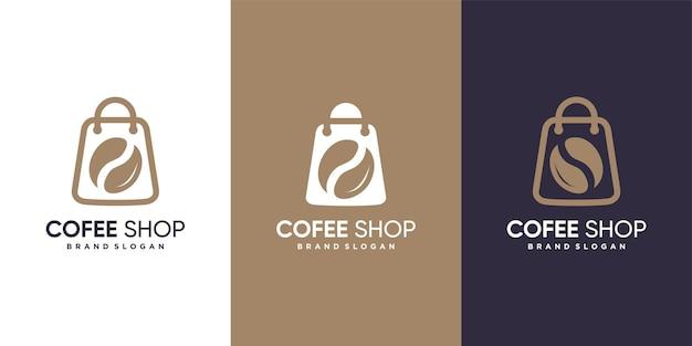 Logotipo da cafeteria com conceito minimalista moderno