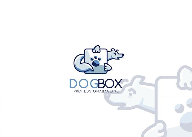 Logotipo da caixa do cão