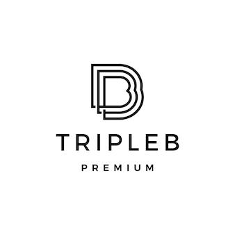Logotipo da carta triplo b