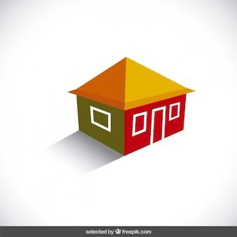 Logotipo da casa 3d