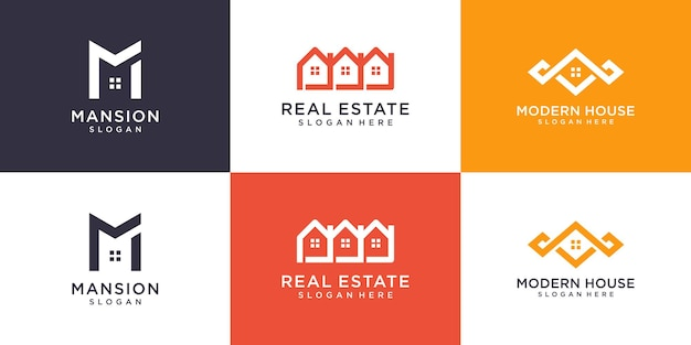 Logotipo da casa com conceito moderno minimalista premium vector